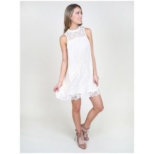 Altar'd State cream lace shift dress